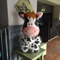 Farmyard cow on balloon base, other characters available £12.99