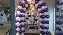 Balloon arch at the newly opened wellness gym in leigh £125