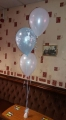 Set of 3 christening balloons