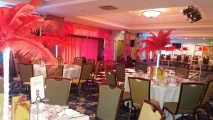 20 ostrich feather centrepieces for bolton mayors ball