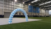 Framed arch at Manchester city football club