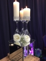Vanessa centrepiece limited offer of £10 per table including mirror plate and mirrored cube, or avai